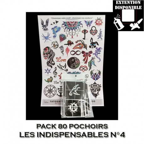 Pack 80 pochoirs Les Indispensables 4