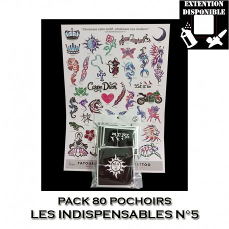 Pack 80 pochoirs Les Indispensables 5
