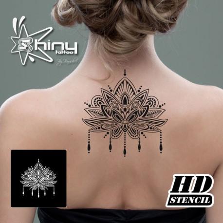 Pochoir Autocollant Haute Definition Hd002 Fleur De Lotus Mandala Xl
