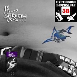 Pochoir Tatouage Temporaire SE Requin 003