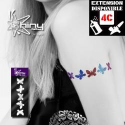Pochoir Tatouage Temporaire SE Bracelet Papillon 002
