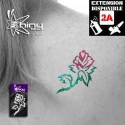 Pochoir Tatouage Temporaire SE Rose 006