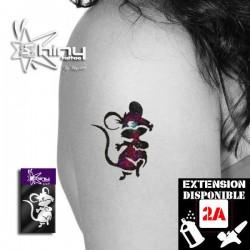 Pochoir Tatouage Temporaire SE Souris 001