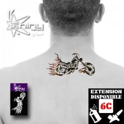 Pochoir Tatouage Temporaire SE Moto 001