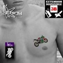 Pochoir Tatouage Temporaire SE Moto 003