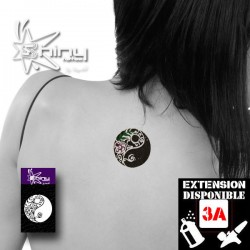 Pochoir Tatouage Temporaire SE Yin Yang  006